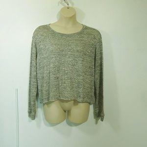 Agnes & Dora Gray Lightweight Crop Sweater XXXL